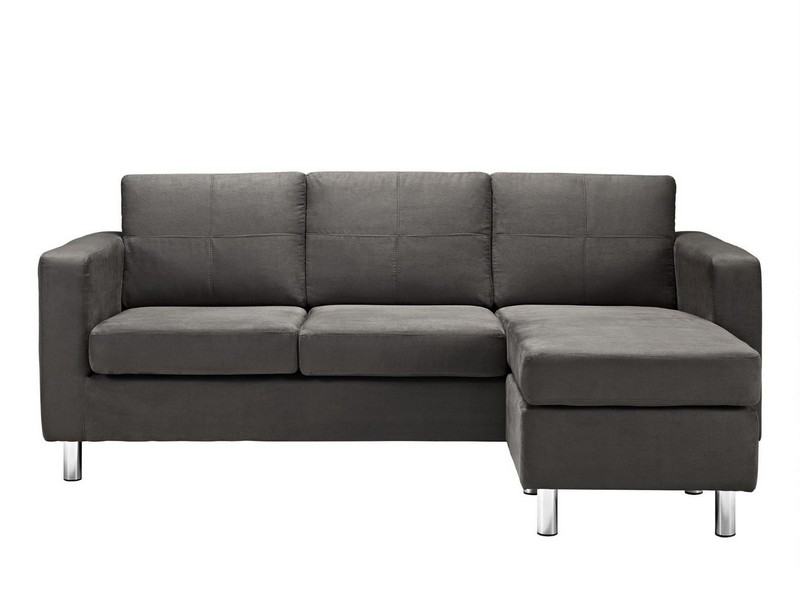 Small Spaces Configurable Sectional Sofa Black