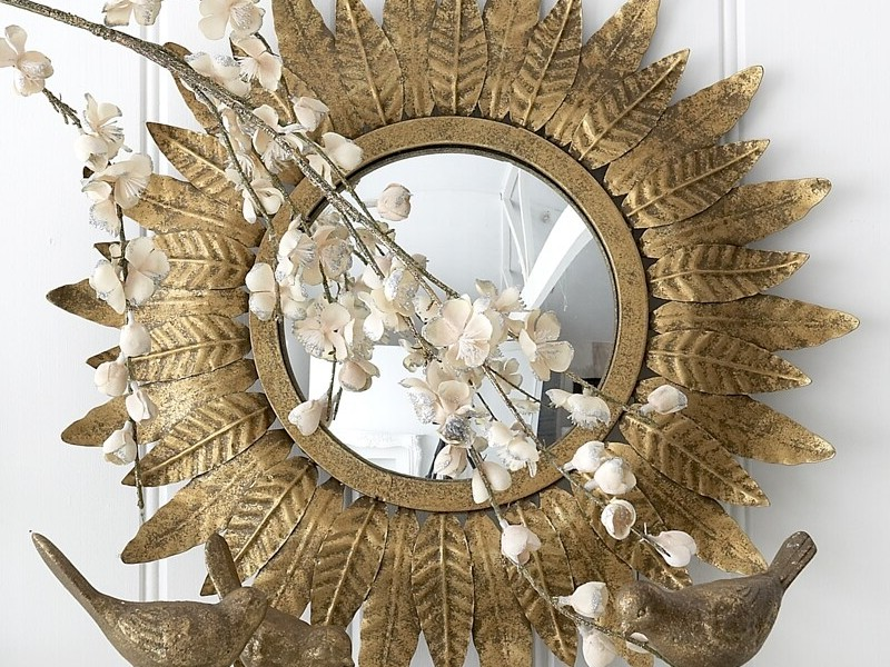 Small Sunburst Mirror Set
