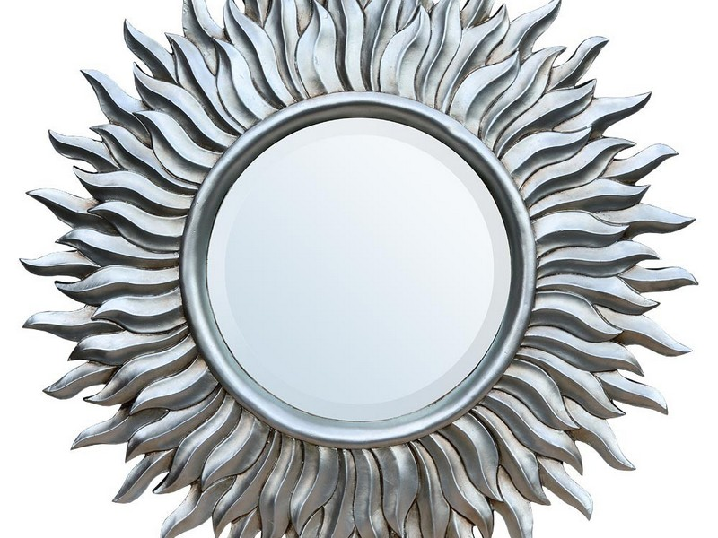 Small Sunburst Mirror Silver