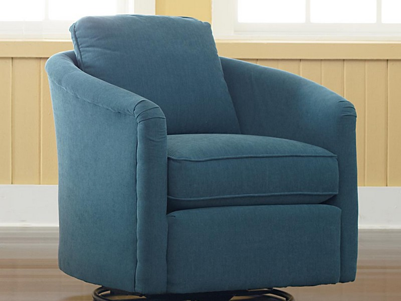 Small Upholstered Swivel Chair
