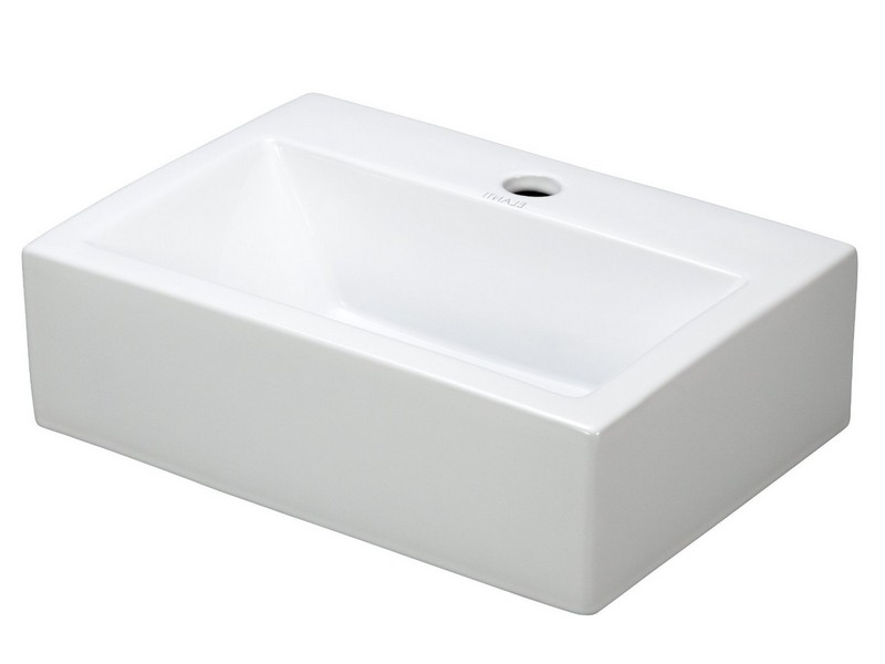 Small Wall Mount Bathroom Sink 12.4 X11 White