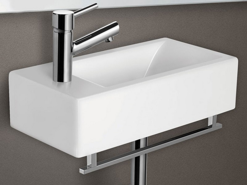 Small Wall Mount Bathroom Sink With Towel Bar