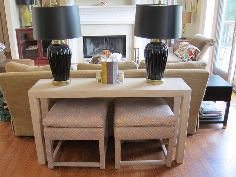 Sofa Table With Stools Set