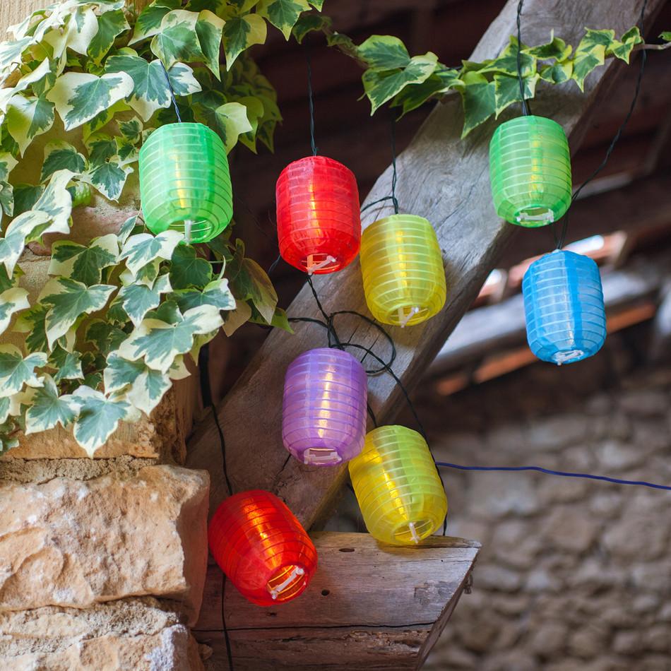 Solar Chinese Lanterns White