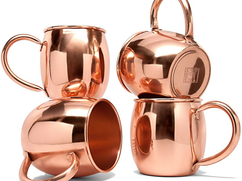 Solid Copper Moscow Mule Mugs Set Of 4