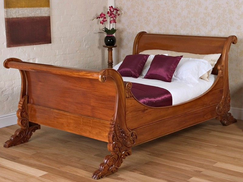 Solid Mahogany Sleigh Bed
