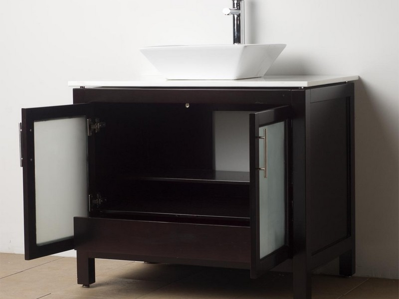 Solid Wood Bathroom Vanity Cabinets
