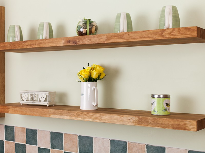 Solid Wood Floating Shelves