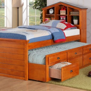 Solid Wood Twin Bed Frame With Drawers
