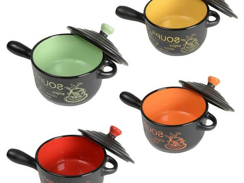 Soup Bowls With Handles And Lids