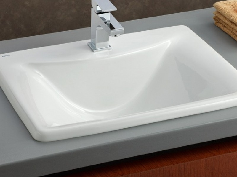 Square Bathroom Sinks Drop In