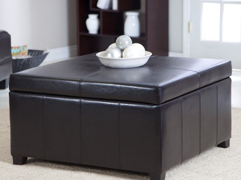 Square Coffee Table With Storage Cubes