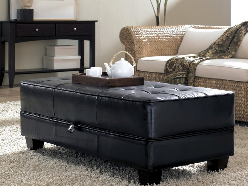 Square Coffee Table With Storage Ottoman
