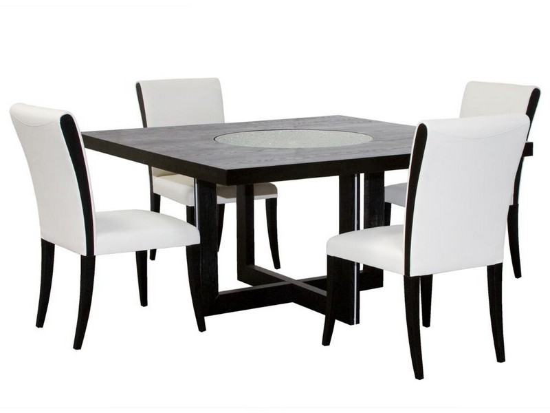 Square Dining Table With Lazy Susan