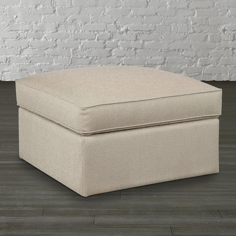 Square Fabric Storage Ottoman