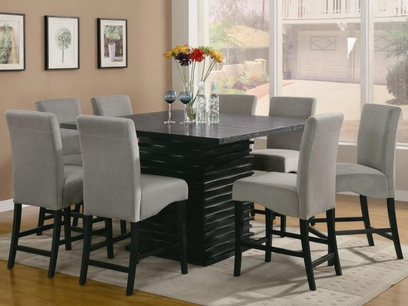 Square Kitchen Table Sets For 8