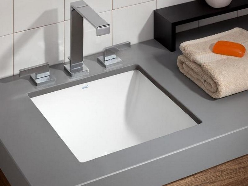 Square Top Mount Bathroom Sinks