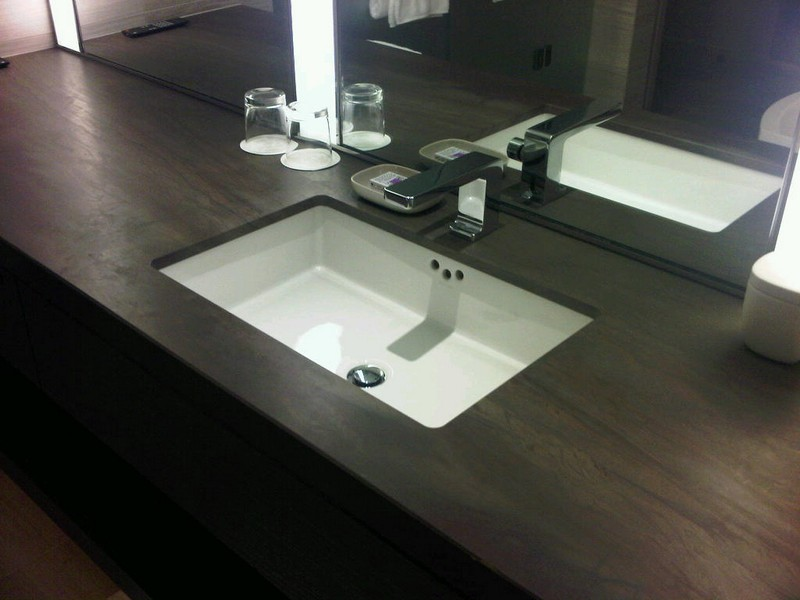 Square Undermount Bathroom Sink