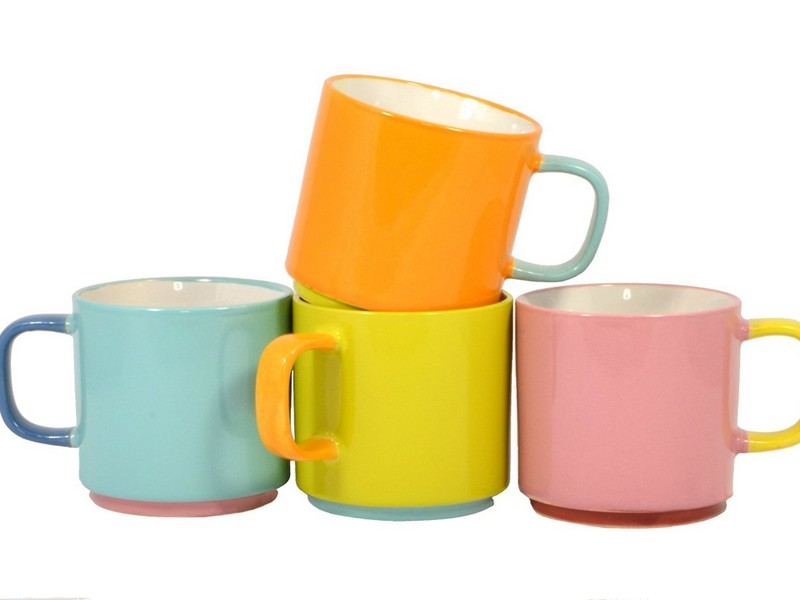 Stackable Coffee Cups With Rack