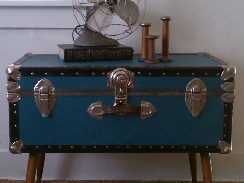 Steamer Trunk As Coffee Table