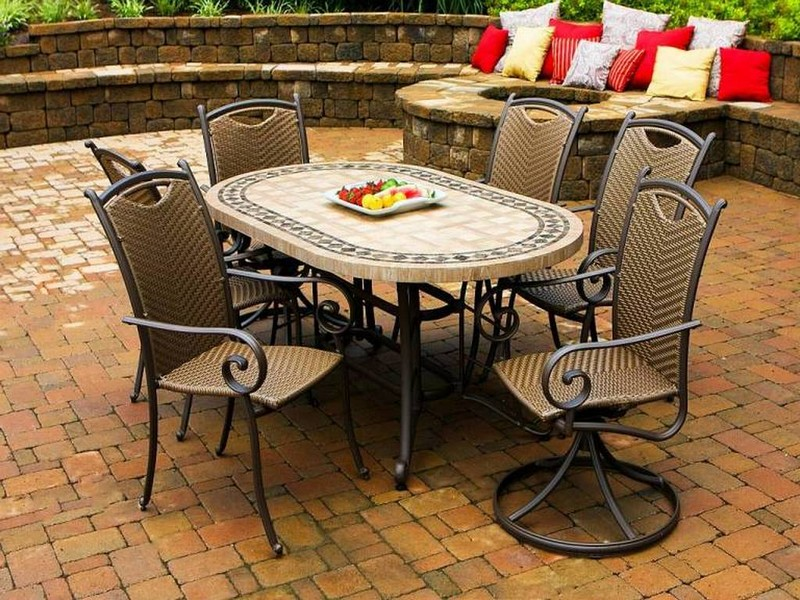 Stone Top Patio Table And Chairs