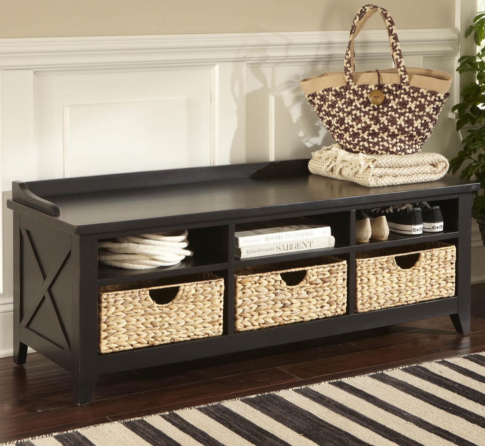 Storage Bench With Cubbies