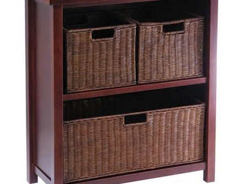 Storage Shelf With Baskets
