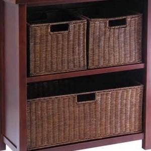 Storage Shelf With Baskets