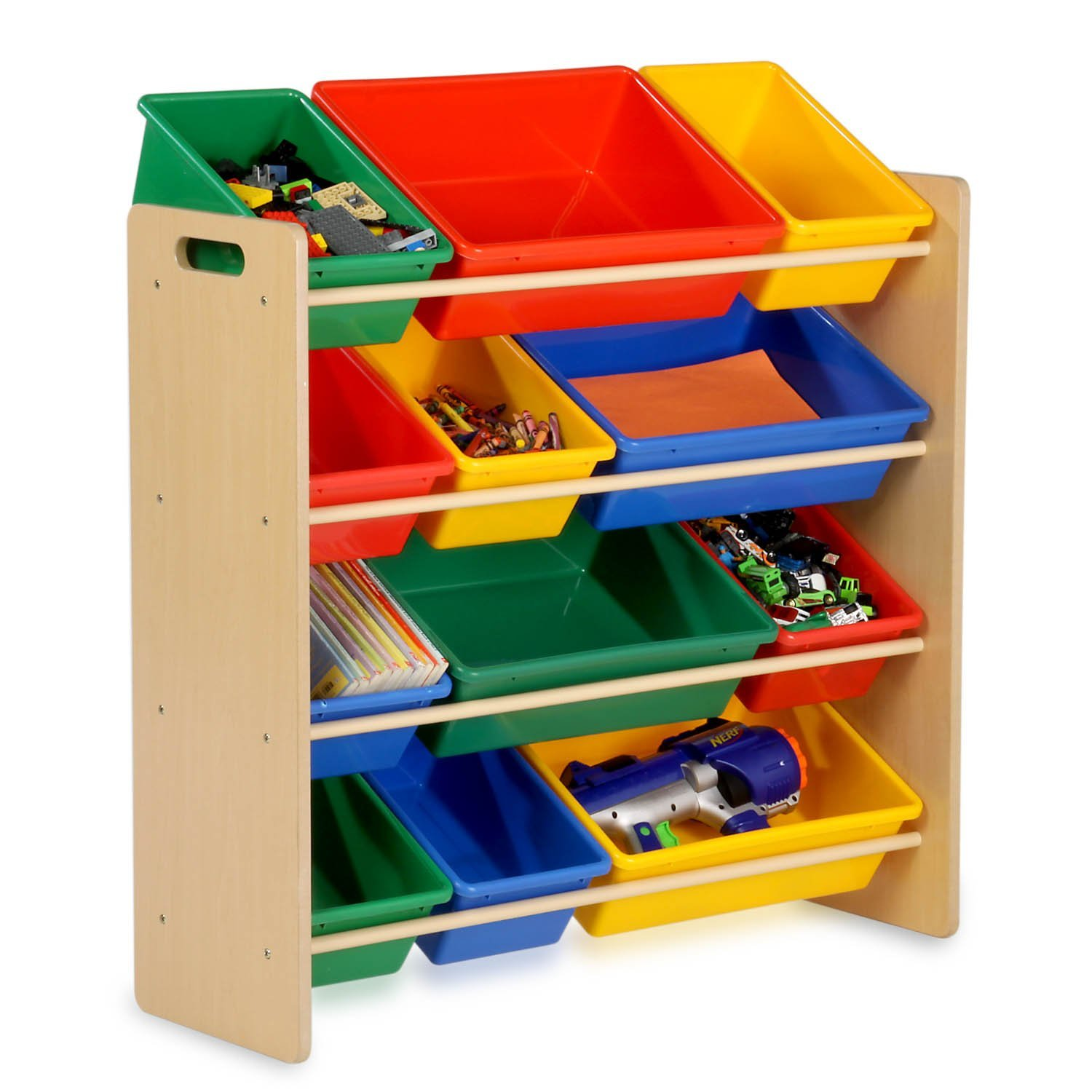 Storage Shelf With Bins