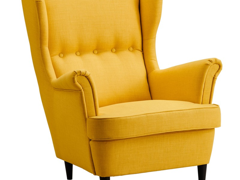 Strandmon Wing Chair Skiftebo Yellow