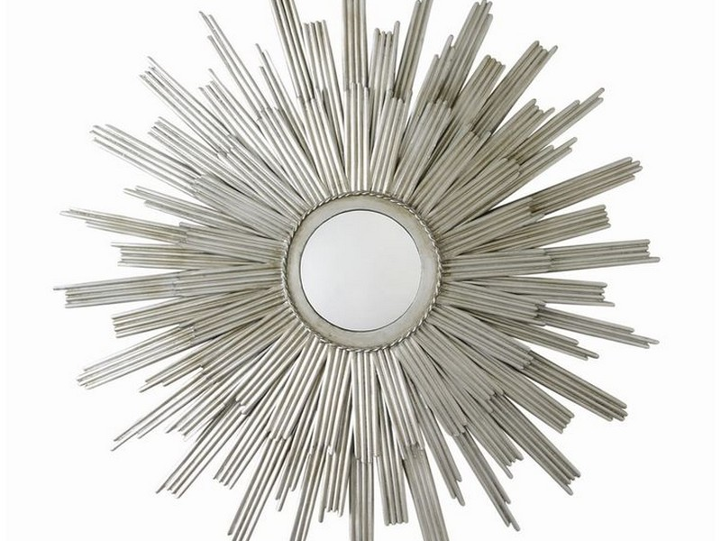 Sunburst Mirror Silver Finish