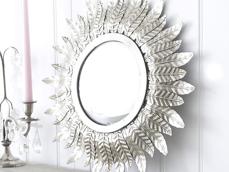 Sunburst Mirror Silver