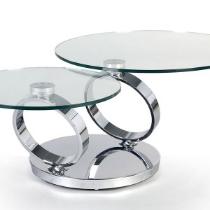 Swivel Coffee Table Glass