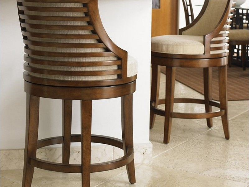 Swivel Counter Stools With Back And Arms