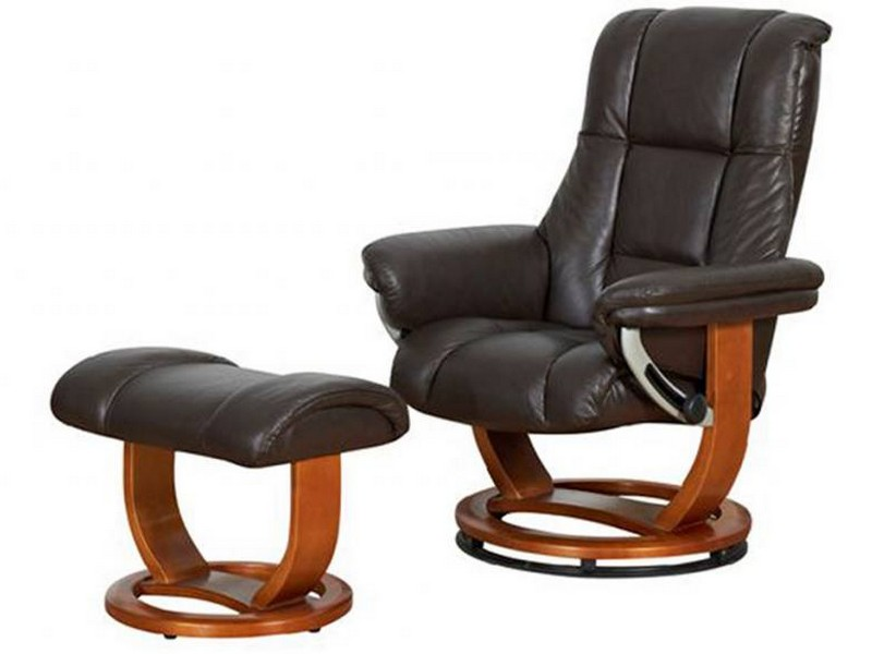 Swivel Recliner Chair With Ottoman