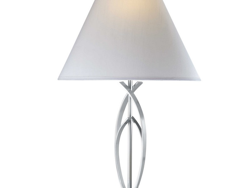 Table Lamps Brushed Nickel Finish