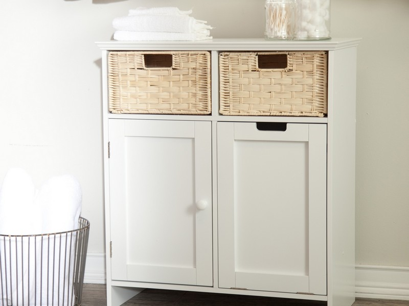 Tall Bathroom Cabinet With Hamper