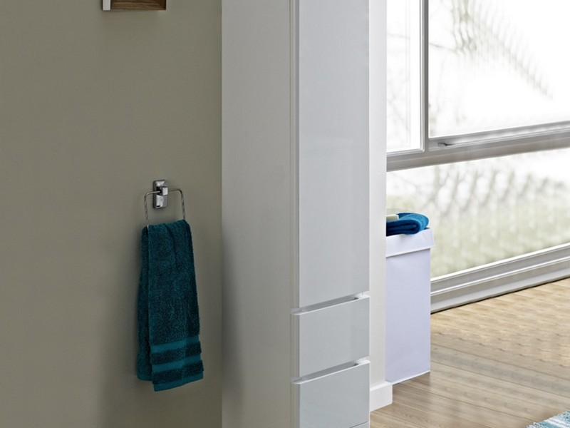 Tall Bathroom Cabinet With Laundry Basket