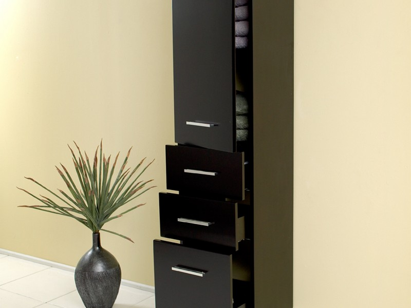 Tall Bathroom Storage Cabinet Espresso