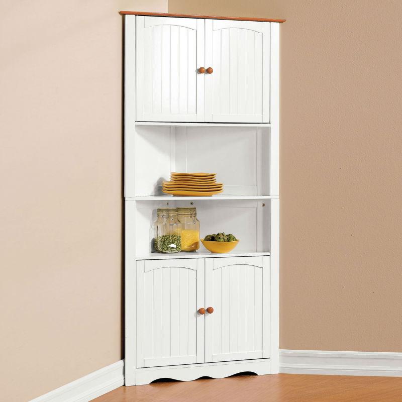 Tall Corner Storage Cabinet