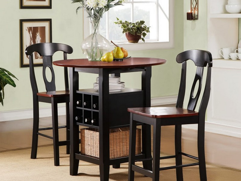 Elegant Tall Dining Tables For Small Spaces With Chairs Cream Carpet