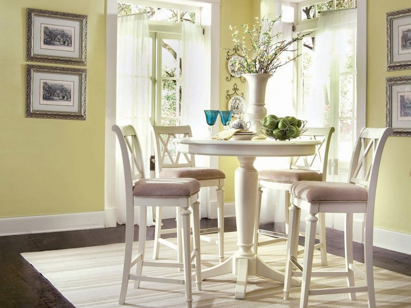 Tall Pedestal Dining Table