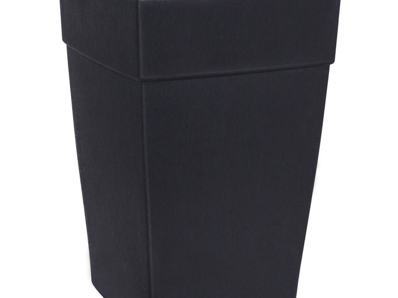Tall Square Planters Black