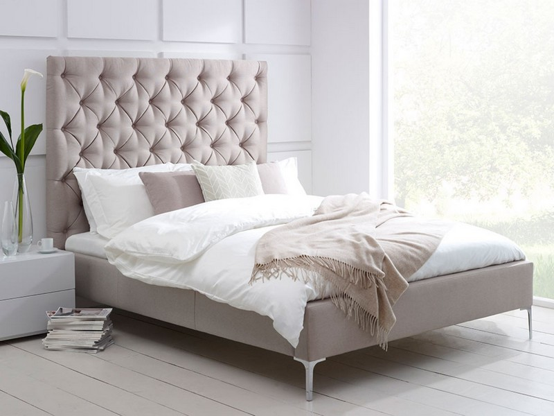 Tall Upholstered Bed