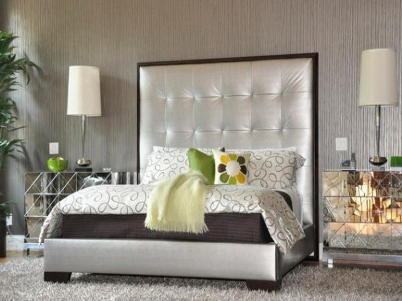 Tall Upholstered Headboard Bedroom Furniture