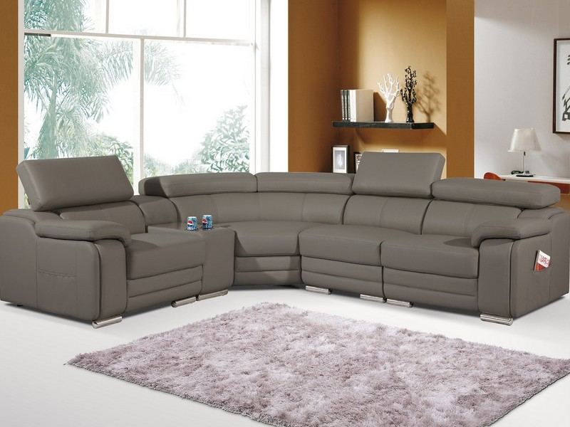 Tan Leather Recliner Sofa