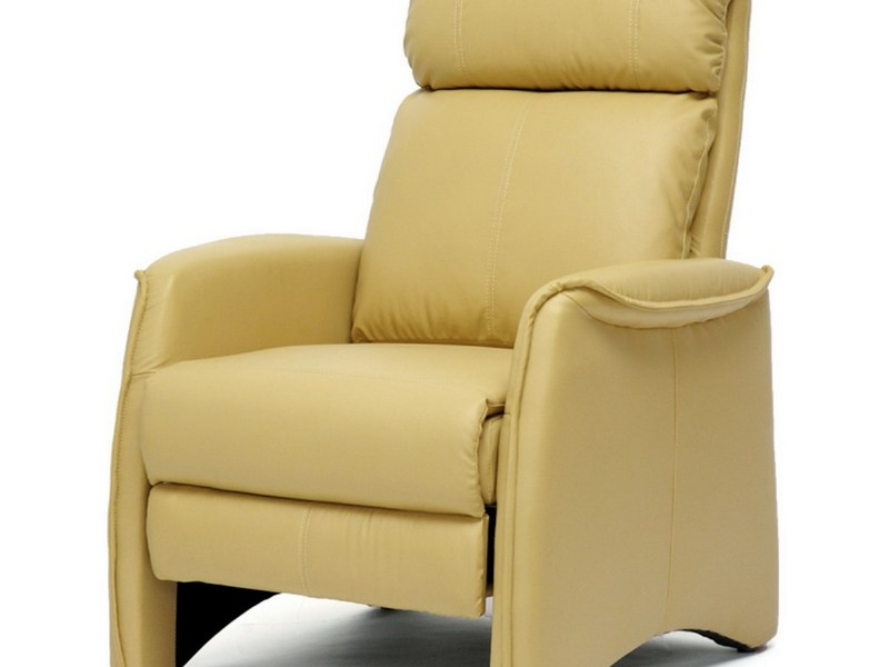 Tan Leather Recliner
