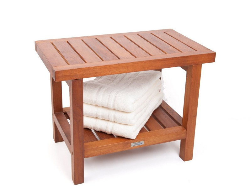 Teak Bathroom Bench Shower