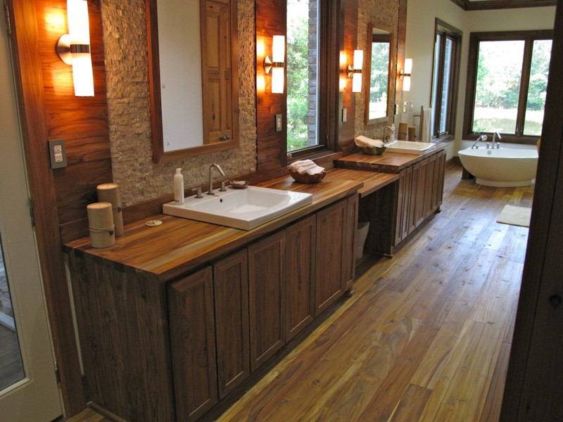 Teak Bathroom Floor