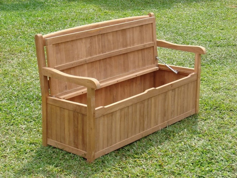 Teak Storage Bench